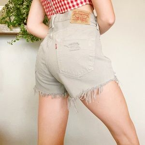 levi's • distressed shorts